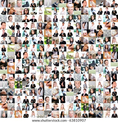 Business collage made with many pictures - stock photo