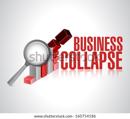 business collapse sign illustration design over a white background - stock photo