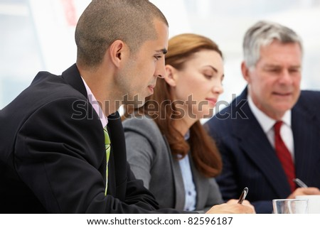 Business colleagues in meeting - stock photo