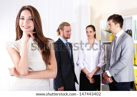 Business colleagues in office - stock photo