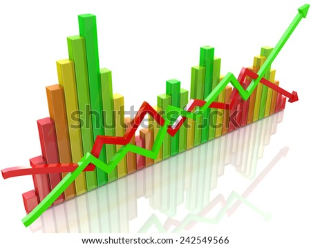 Business colorful chart  - stock photo
