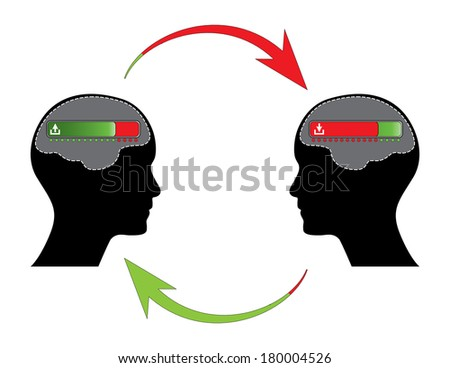 Business communication illustration, raster version. - stock photo