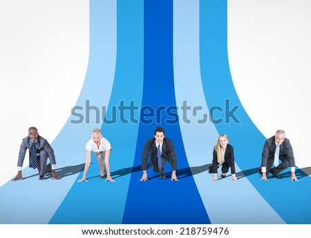 Business Competition - stock photo