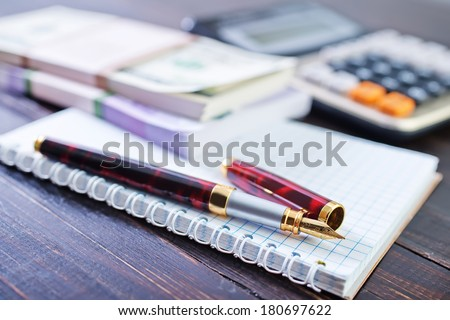 Business composition - stock photo
