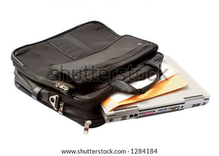 business computer (laptop) case - stock photo