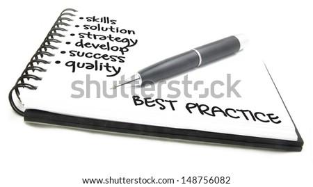business concept - best practice - stock photo