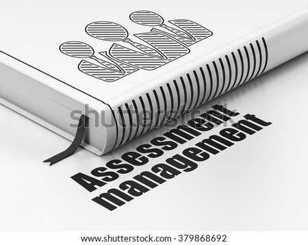 Business concept: book Business People, Assessment Management on white background