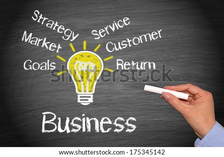 Business - Concept Chalkboard - stock photo