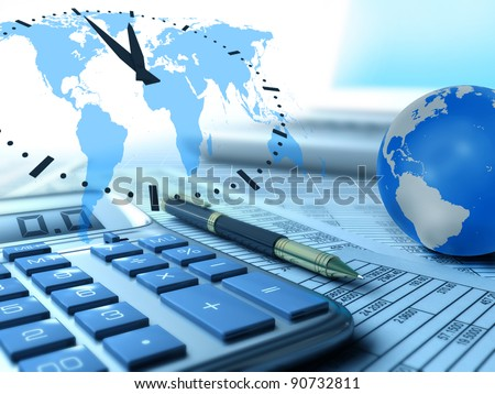 Business concept collage - stock photo