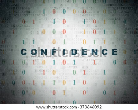 Business concept: Confidence on Digital Paper background - stock photo