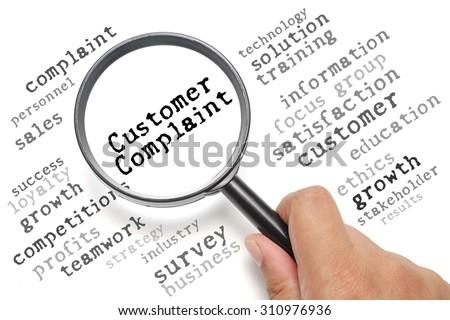 Business concept, customer satisfaction focusing on Customer Complaint - stock photo