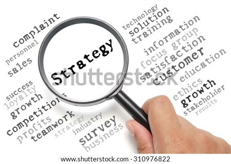 Business concept, customer satisfaction focusing on Strategy - stock photo