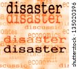 business concept disaster background - stock