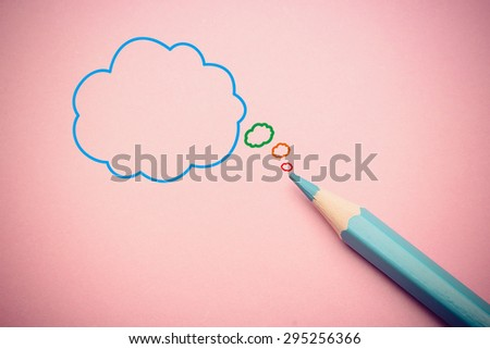 Business concept drawing on the paper with blue pencil aside. - stock photo