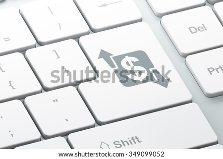 Business concept: Enter button with Finance on computer keyboard background, 3d render