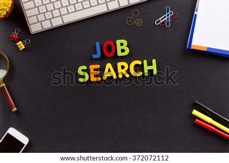 Business Concept: JOB SEARCH - stock photo