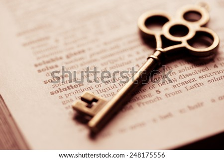 Business concept  key for solution - stock photo