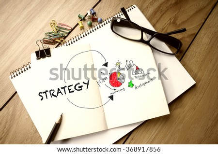 Business Concept: Marketing Strategy - stock photo