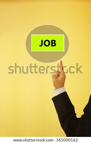 business concept of job