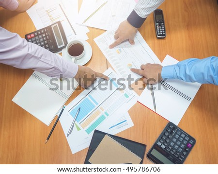 Business concept of office working, Business man discussing ideas at meeting