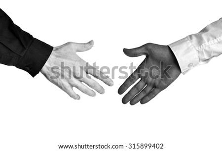 Business concept of racial diversity and equal opportunity in the workplace - stock photo