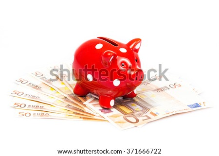 Business concept. Piggy bank with money. Saving account concept background