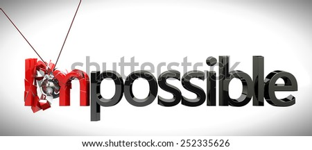 Business concept success concept,metal ball rocker breaking impossible. - stock photo