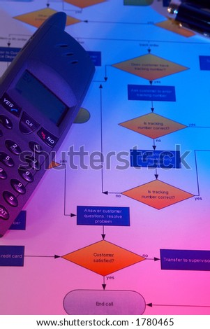 business concept with colorful light - stock photo