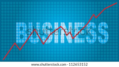 Business concept with graph and abstract background