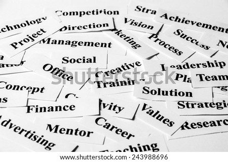 Business concept with some related words paper. - stock photo