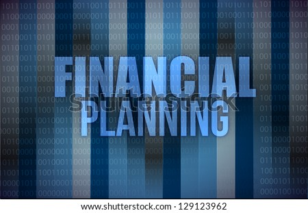 business concept: words financial planning, illustration design - stock photo