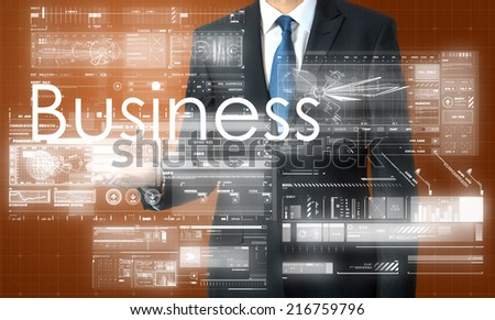 Business Concepts. Business with some diagrams  - stock photo
