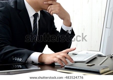 Business concepts, thinking businessman