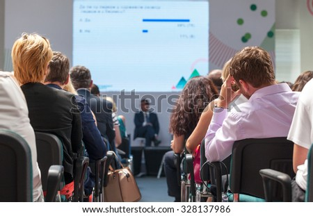 Business conference and presentation  - stock photo