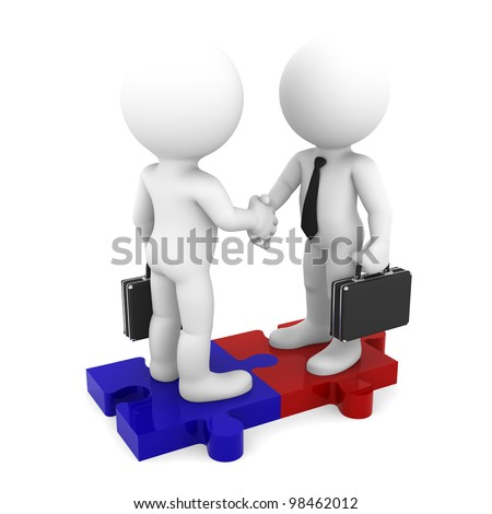 Business Connection. Conceptual business illustration. Isolated on white background - stock photo