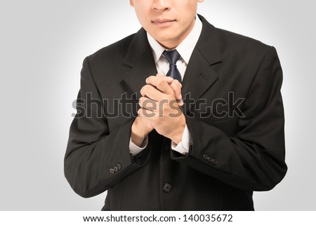 Business coordination on gray background. - stock photo