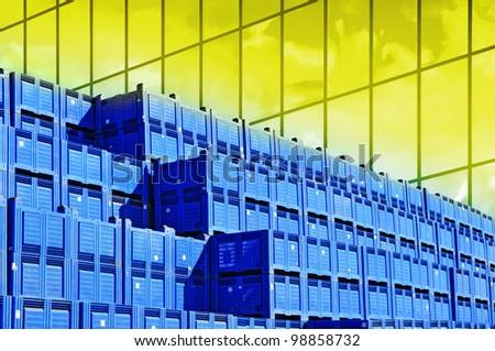 Business corporate background, world production, logistics - stock photo