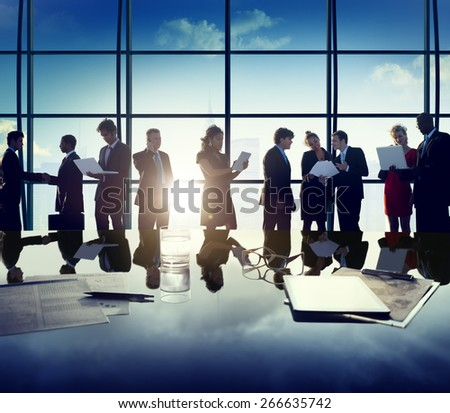 Business Corporate People Digital Devices Meeting Concept - stock photo