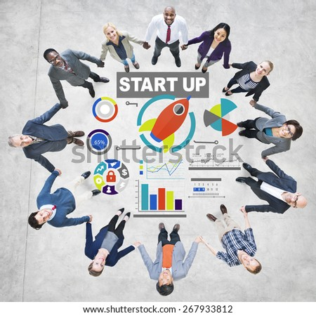 Business Corporate People Start up Support Team Concept - stock photo