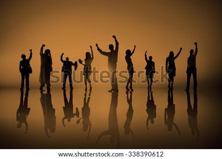 Business Corporate People  Successful Celebration Concept - stock photo