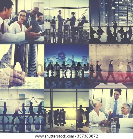 Business Corporate Team Collaboration Success Start Concept - stock photo