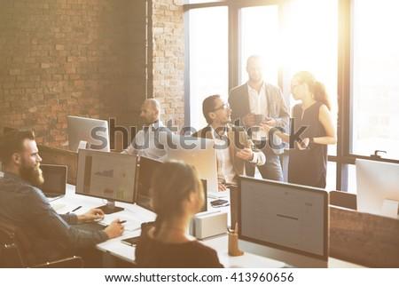 Business Corporation Organization Teamwork Concept - stock photo