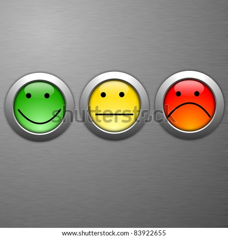 business customer service feedback concept with survey button - stock photo