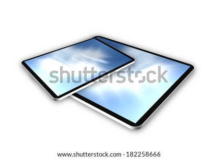 Business 3D success with modern colors white background