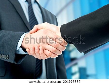 Business deal finalized, congratulations! - stock photo