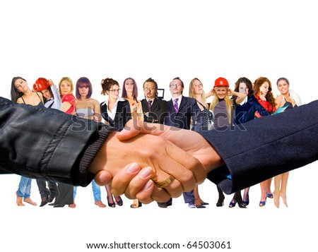 Business Deal Group - stock photo