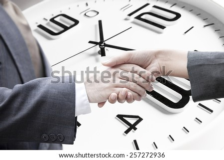 business dealing,Concept of time management. - stock photo