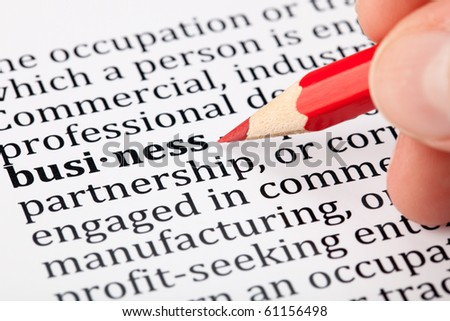 Business - definition in a dictionary - stock photo