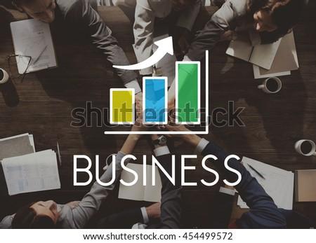 Business Development Growth Bar Chart Concept - stock photo