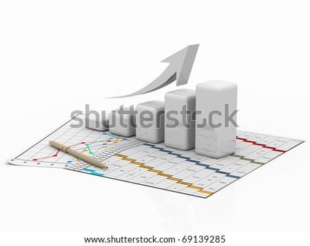 business diagram, chart, bar, graphic - stock photo